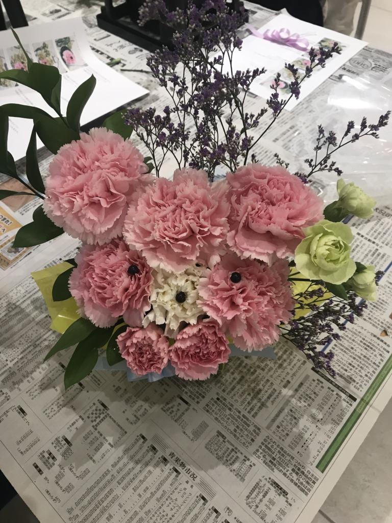 5月アレンジ教室でのお花