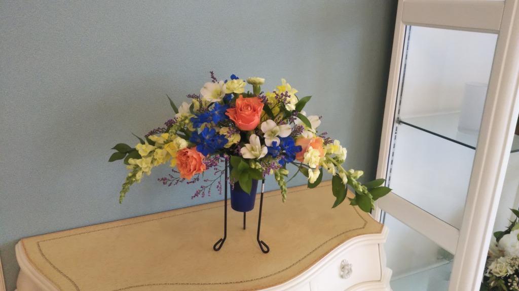 6月のアレンジ教室でのお花